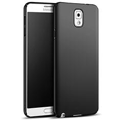 Handyhülle Hülle Kunststoff Schutzhülle Matt M05 für Samsung Galaxy Note 3 N9000 Schwarz