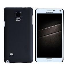 Handyhülle Hülle Kunststoff Schutzhülle Matt M05 für Samsung Galaxy Note 4 Duos N9100 Dual SIM Schwarz