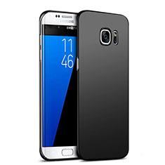 Handyhülle Hülle Kunststoff Schutzhülle Matt M05 für Samsung Galaxy S7 Edge G935F Schwarz