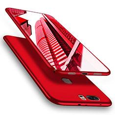 Handyhülle Hülle Kunststoff Schutzhülle Matt M06 für Huawei Honor V8 Rot