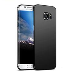 Handyhülle Hülle Kunststoff Schutzhülle Matt M06 für Samsung Galaxy S7 Edge G935F Schwarz