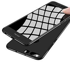 Handyhülle Hülle Kunststoff Schutzhülle Matt M07 für Huawei Honor 8 Schwarz