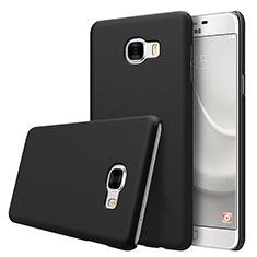 Handyhülle Hülle Kunststoff Schutzhülle Matt M08 für Samsung Galaxy C7 SM-C7000 Schwarz