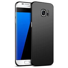 Handyhülle Hülle Kunststoff Schutzhülle Matt M09 für Samsung Galaxy S7 Edge G935F Schwarz