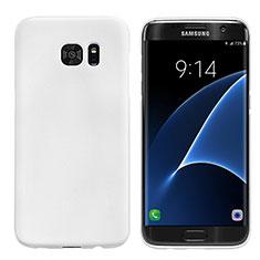 Handyhülle Hülle Kunststoff Schutzhülle Matt M10 für Samsung Galaxy S7 Edge G935F Weiß