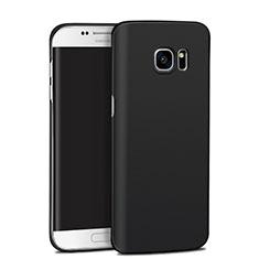 Handyhülle Hülle Kunststoff Schutzhülle Matt M11 für Samsung Galaxy S7 Edge G935F Schwarz