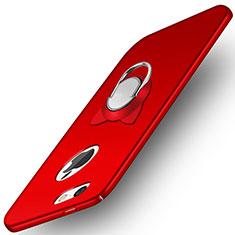 Handyhülle Hülle Kunststoff Schutzhülle Matt mit Fingerring Ständer A01 für Apple iPhone 5S Rot