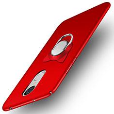 Handyhülle Hülle Kunststoff Schutzhülle Matt mit Fingerring Ständer A02 für Huawei Enjoy 6 Rot