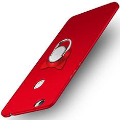 Handyhülle Hülle Kunststoff Schutzhülle Matt mit Fingerring Ständer A02 für Huawei Honor V8 Max Rot