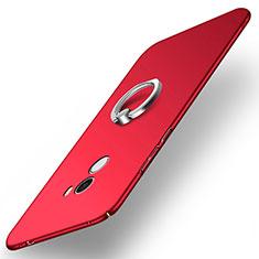 Handyhülle Hülle Kunststoff Schutzhülle Matt mit Fingerring Ständer A02 für Xiaomi Mi Mix Rot