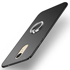 Handyhülle Hülle Kunststoff Schutzhülle Matt mit Fingerring Ständer A02 für Xiaomi Redmi Pro Schwarz