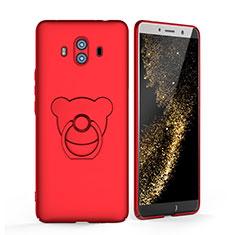 Handyhülle Hülle Kunststoff Schutzhülle Matt mit Fingerring Ständer A03 für Huawei Mate 10 Rot