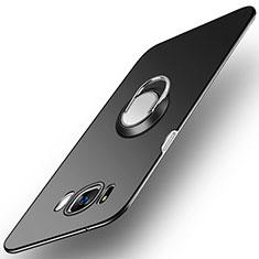 Handyhülle Hülle Kunststoff Schutzhülle Matt mit Fingerring Ständer A03 für Samsung Galaxy S8 Plus Schwarz