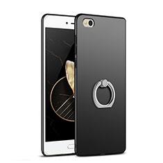 Handyhülle Hülle Kunststoff Schutzhülle Matt mit Fingerring Ständer A03 für Xiaomi Mi 5C Schwarz
