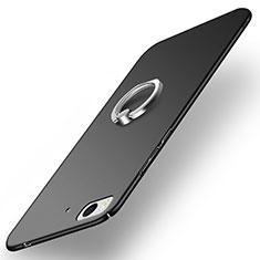 Handyhülle Hülle Kunststoff Schutzhülle Matt mit Fingerring Ständer A03 für Xiaomi Mi 5S Schwarz