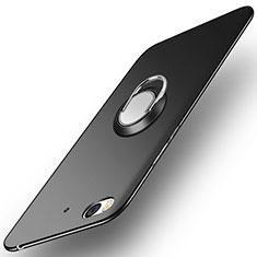 Handyhülle Hülle Kunststoff Schutzhülle Matt mit Fingerring Ständer A04 für Xiaomi Mi 5S Schwarz