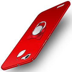 Handyhülle Hülle Kunststoff Schutzhülle Matt mit Fingerring Ständer für Huawei Enjoy 5S Rot