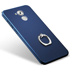 Handyhülle Hülle Kunststoff Schutzhülle Matt mit Fingerring Ständer für Huawei Enjoy 6S Blau