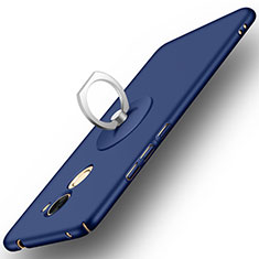Handyhülle Hülle Kunststoff Schutzhülle Matt mit Fingerring Ständer für Huawei Enjoy 7 Plus Blau