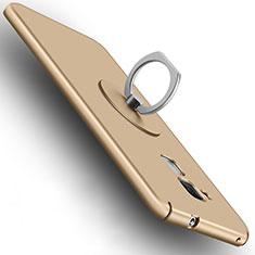 Handyhülle Hülle Kunststoff Schutzhülle Matt mit Fingerring Ständer für Huawei GR5 Mini Gold