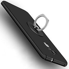 Handyhülle Hülle Kunststoff Schutzhülle Matt mit Fingerring Ständer für Huawei GR5 Mini Schwarz
