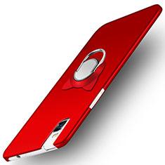 Handyhülle Hülle Kunststoff Schutzhülle Matt mit Fingerring Ständer für Huawei Honor 7i shot X Rot