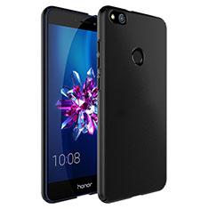 Handyhülle Hülle Kunststoff Schutzhülle Matt mit Fingerring Ständer für Huawei Honor 8 Lite Schwarz
