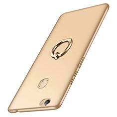 Handyhülle Hülle Kunststoff Schutzhülle Matt mit Fingerring Ständer für Huawei Honor V8 Max Gold