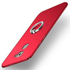 Handyhülle Hülle Kunststoff Schutzhülle Matt mit Fingerring Ständer für Huawei Mate S Rot