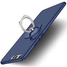 Handyhülle Hülle Kunststoff Schutzhülle Matt mit Fingerring Ständer für Huawei P10 Blau