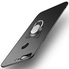 Handyhülle Hülle Kunststoff Schutzhülle Matt mit Fingerring Ständer für OnePlus 5T A5010 Schwarz
