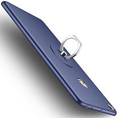 Handyhülle Hülle Kunststoff Schutzhülle Matt mit Fingerring Ständer für Xiaomi Mi Max 2 Blau