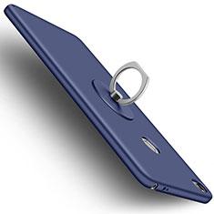 Handyhülle Hülle Kunststoff Schutzhülle Matt mit Fingerring Ständer für Xiaomi Mi Max Blau