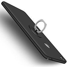 Handyhülle Hülle Kunststoff Schutzhülle Matt mit Fingerring Ständer für Xiaomi Mi Max Schwarz