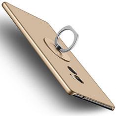 Handyhülle Hülle Kunststoff Schutzhülle Matt mit Fingerring Ständer für Xiaomi Mi Mix Gold