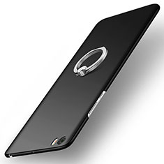 Handyhülle Hülle Kunststoff Schutzhülle Matt mit Fingerring Ständer für Xiaomi Mi Note Schwarz