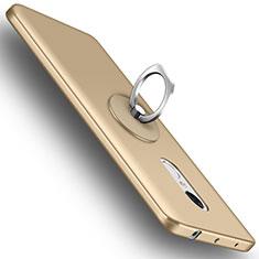 Handyhülle Hülle Kunststoff Schutzhülle Matt mit Fingerring Ständer für Xiaomi Redmi Note 4 Gold