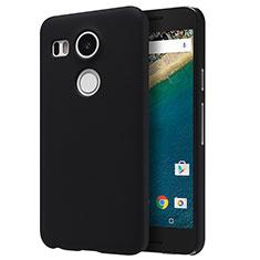 Handyhülle Hülle Kunststoff Schutzhülle Matt P01 für Google Nexus 5X Schwarz