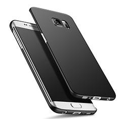 Handyhülle Hülle Kunststoff Schutzhülle Matt Q02 für Samsung Galaxy S6 Edge+ Plus SM-G928F Schwarz