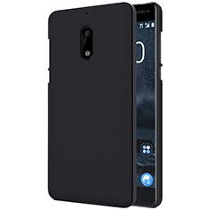 Handyhülle Hülle Kunststoff Schutzhülle Matt R01 für Nokia 6 Schwarz