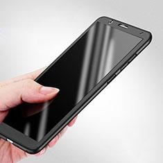 Handyhülle Hülle Kunststoff Schutzhülle Matt Vorder und Rückseite 360 Grad für Huawei Honor 7X Schwarz