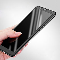 Handyhülle Hülle Kunststoff Schutzhülle Matt Vorder und Rückseite 360 Grad für Huawei Honor Play 7X Schwarz