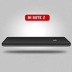 Handyhülle Hülle Kunststoff Schutzhülle Matt Vorder und Rückseite 360 Grad für Xiaomi Mi Note 2 Special Edition Schwarz
