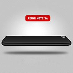Handyhülle Hülle Kunststoff Schutzhülle Matt Vorder und Rückseite 360 Grad für Xiaomi Redmi Note 5A Standard Edition Schwarz