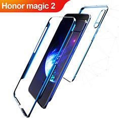 Handyhülle Hülle Kunststoff Schutzhülle Matt Vorder und Rückseite 360 Grad Q01 für Huawei Honor Magic 2 Blau