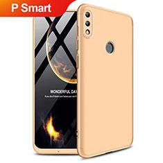 Handyhülle Hülle Kunststoff Schutzhülle Matt Vorder und Rückseite 360 Grad Q01 für Huawei P Smart (2019) Gold