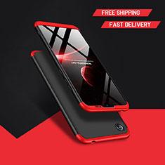 Handyhülle Hülle Kunststoff Schutzhülle Matt Vorder und Rückseite 360 Grad Q01 für Huawei Y6 (2019) Schwarz