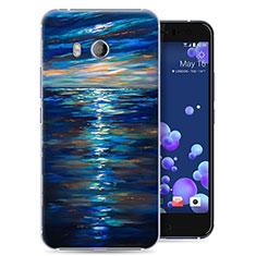 Handyhülle Hülle Kunststoff Schutzhülle Ozean für HTC U11 Blau