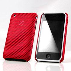 Handyhülle Hülle Kunststoff Schutzhülle Punkte Loch für Apple iPhone 3G 3GS Rot