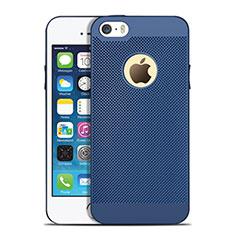 Handyhülle Hülle Kunststoff Schutzhülle Punkte Loch für Apple iPhone 5S Blau